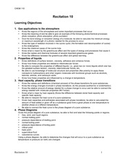 Learning objectives 10