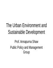 The urban environment and suistanable development.ppt