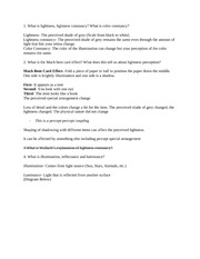 Psych of Perception Exam Guide 2