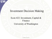 Lecture 5 - Investment Decision Making