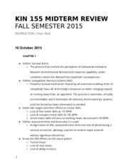 KIN 155 Midterm Review