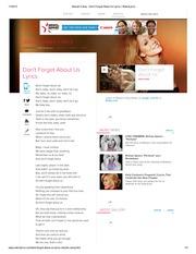 Mariah Carey - Don't Forget About Us Lyrics _ MetroLyrics