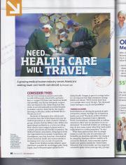 Medical Tourism (Airline Article)