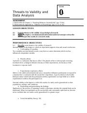 LSN4 Validity and Data Analysis