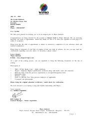 235813239 wipro offer letter july 12 2012 msayesha khatoon no 204 235813239 wipro offer letter july 12 2012 msayesha khatoon no 204new paras toli doranda ranchi 834002 india phone 09431135517 dear ayesha we take spiritdancerdesigns Image collections