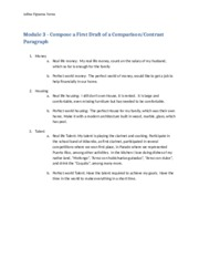 Module 3 - Compose a First Draft of a Comparison Contrast Paragraph