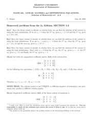 homework set 6-Solutions