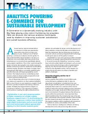 analytice powering e-commerce for sustainable development