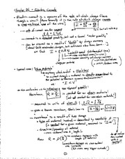 Physics notes Electric Currents