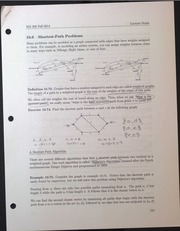 MA306 Shortest Path Problems Lecture Notes