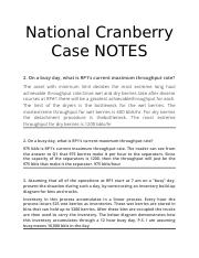 National Cranberry Case HELP