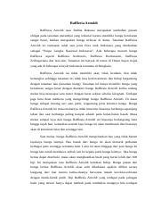 Laporan Hasil Observasi Docx Rafflesia Arnoldi Rafflesia Arnoldi Atau Padma Raksasa Merupakan Tumbuhan Parasit Obligat Pada Tanaman Merambat Yang Course Hero