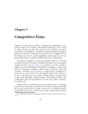 Ch9 Competitive Firms