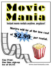 Movie Rental Poster