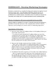 BSBMKG609 - Develop A Marketing Plan Task 1 (Marketing Strategies).pdf