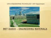 MET 34800 - Engineering Materials Chapter 15