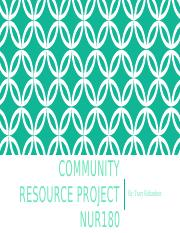 Community resource project.pptx