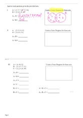 Set Notation NOTES&practice