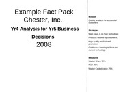 BUSN 499 - Example Fact Pack Chester Round #5