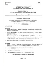 Exam Question Paper for S1 2008 by Alan Winton 175.102_08s1