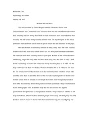 Reflection Essay One