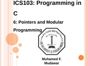 133ICS103_06_PointersAndModularProgramming