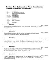 Review Test Submission Final Examination Clicker.docx