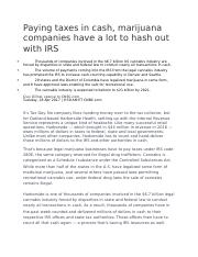 ACC331_Ch4_Paying taxes in cash, marijuana companies have a lot to hash out with IRS.docx