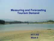 Week Five Tourism Demand