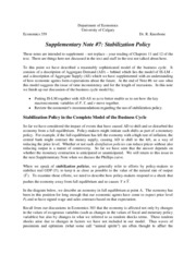 Supplementary Note #7, Stabilization Policy