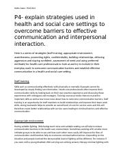 barriers to communication in health and social care