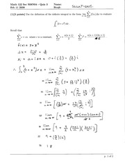 Math 122 definite integral notes