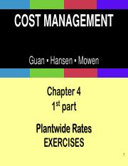 Ch04_Plantwide Rates_Normal Costing PPT - 1st part EXERCISES EXTRA SOLUTIONS STUDENTS.pdf