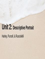 24 Pages LiveLesson 2117 U2 Descriptive Portrait