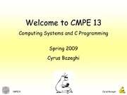 Lecture 1 - Welcome to CMPE 13