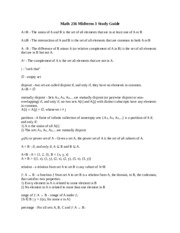 Math 216 Midterm 3 Study Guide