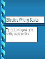 Five keys to effective writing.ppt