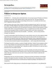 Petroski - Failure Is Always an Option - The New York Times.pdf