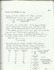Statistics Distribution Notes