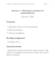 Electronic structure of semiconductors notes
