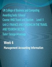 Management Accounting Information 1