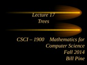 Lecture 17 - Trees