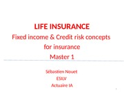 Life insurance & Finance concepts 2014-2015