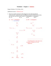 Worksheet Ch 2 - solutions
