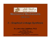 3 - graphical linkage synthesis