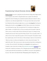 Experiencing Cultural Diversity Activity.docx.docx