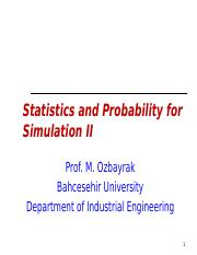 Lec04 - Statisitics & Probability for Simulation II.ppt