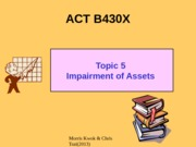 B430X Topic 5 Impairment of assets 2013  final