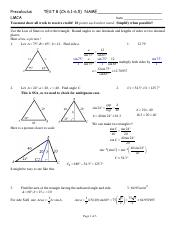 Precalculus Review Test 8 Solutions