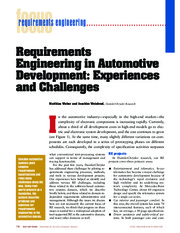 8_Requirements engineering in automotive development experiences and challenges